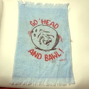 Vintage Bowler's Crying Towel Go Ahead and Bawl!